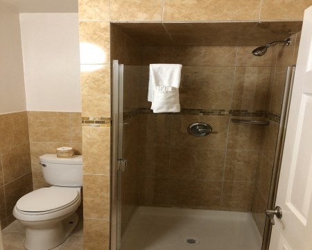 Lombard Plaza Motel - Guest Bathroom with Shower